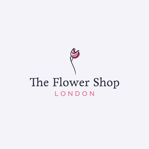 Tulip design with the title 'The Flower Shop'