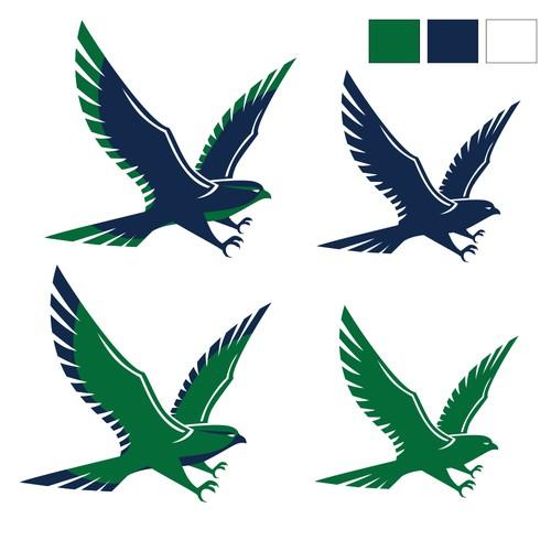 Falcon wings logo with the title 'falcon logo symbol'