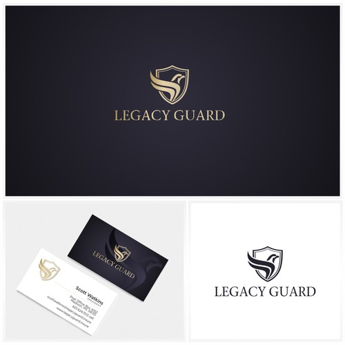 Eagle design with the title 'Sophisticated logo design'