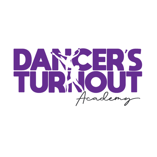 Ballet logo with the title 'Dancer's Turnout Academy'