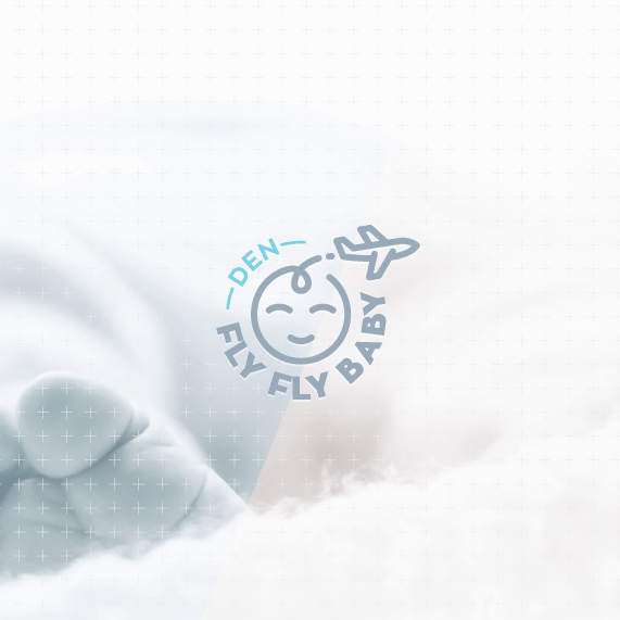 Airport logo with the title 'baby logo & pattern design'