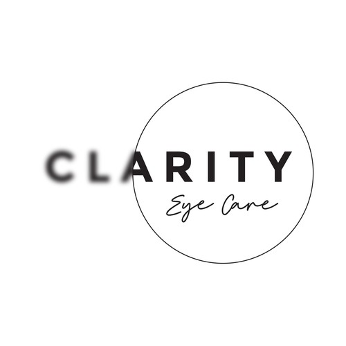 Optometry logo with the title ''Clarity Eye Care' logo'