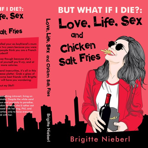 Cool design with the title 'Love, Life, Sex and Chicken Salt Fries - Contemporary fiction'