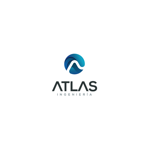 Atlas design with the title 'Atlas logo design'