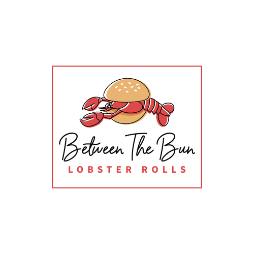 Lobster design with the title 'Logo for restaurant selling lobster, crab and shrimp rolls'