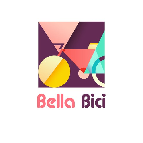 Bright brand with the title 'Logo for bike rental shop'