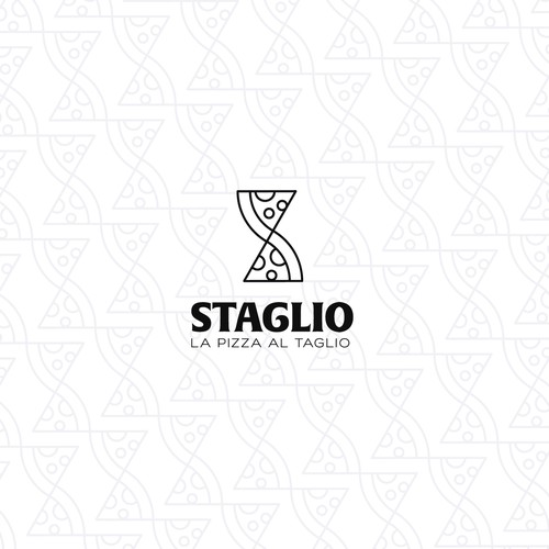 Pizza design with the title 'Staglio'