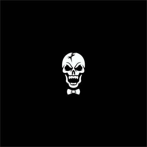 Laughing logo with the title 'skull tie'
