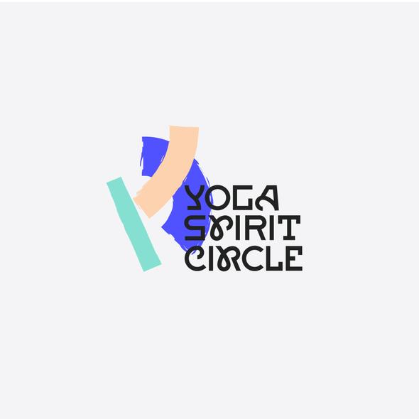 Brush stroke logo with the title 'Yoga Spirit Circle'