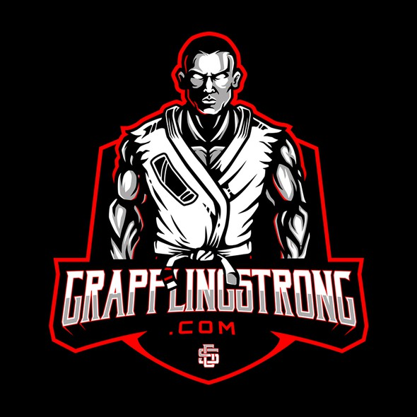 Wrestling design with the title 'Grapplingstrong.com'
