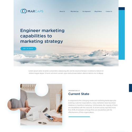 Company website with the title ' Web Page for Management Consulting Startup'