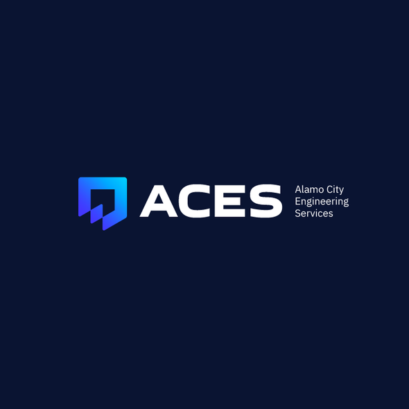 Shield design with the title 'Logo for ACES'