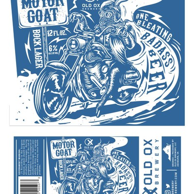 Vintage Biker Beer Label