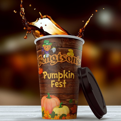 Halloween design with the title 'Pumpkin Fest Cup'