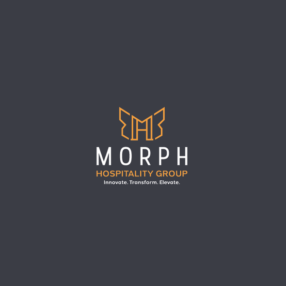 Hospitality logo with the title 'Morph Logo'