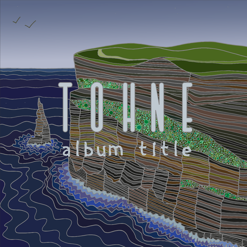 Cliff design with the title 'Album cover'