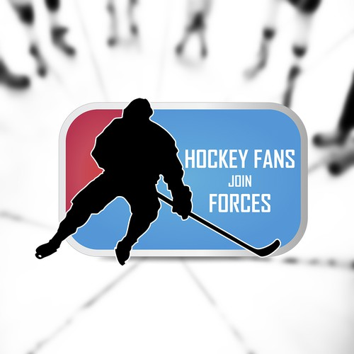 Fan logo with the title 'Hockey fans join forces'