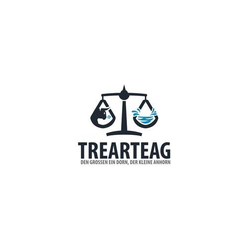 Balanced design with the title 'Trearte AG logo '