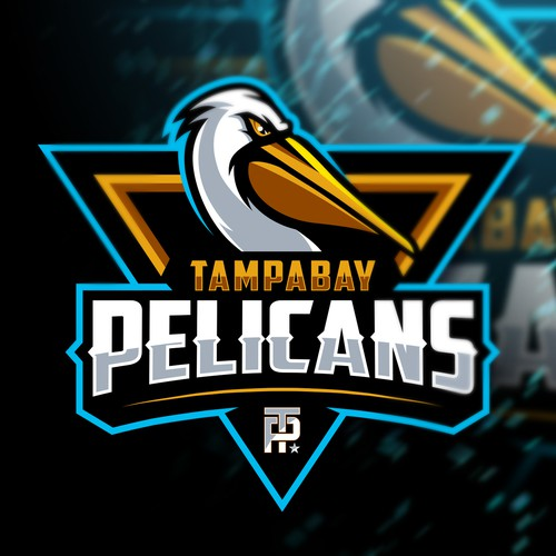 Bird sport logo with the title 'Tampa Bay Pelicans'