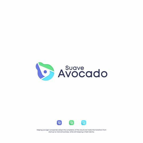 Avocado logo with the title 'AVOCADO LOGO'