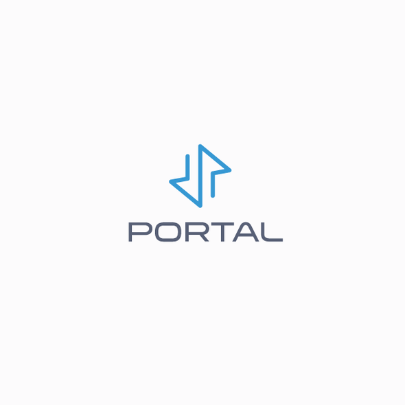 Portal logo with the title 'Modern and simple logistics logo'