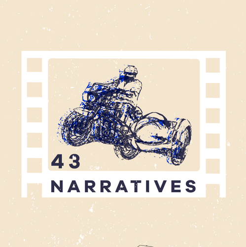 Complex logo with the title '43 Narratives'