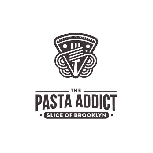 Pizza design with the title 'Pizza & Pasta Restaurant Logo'