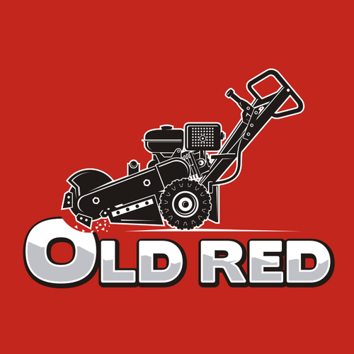 Lawn care logo with the title 'Old Red'