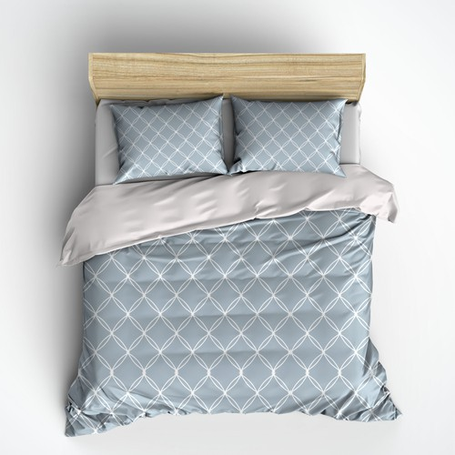 Style illustration with the title 'Bed Linen-pattern'