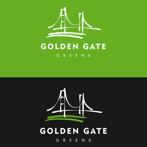 San Francisco design with the title 'Golden Gate Greens'