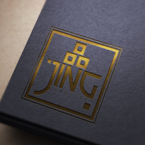 Glamorous logo with the title 'Jing Jewellery'