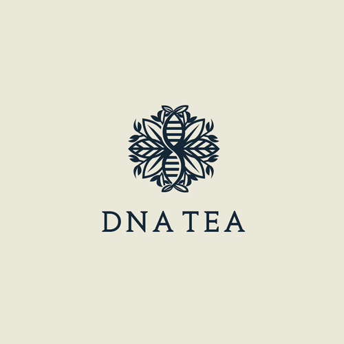 Helix logo with the title 'DNA Tea'