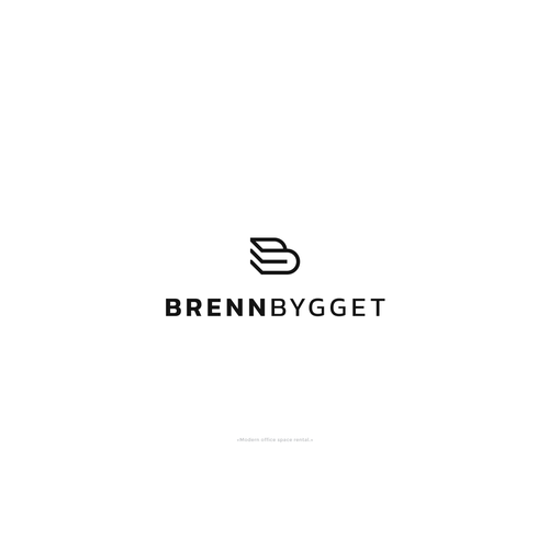 Office design with the title 'Logo for the modern office space rental.'