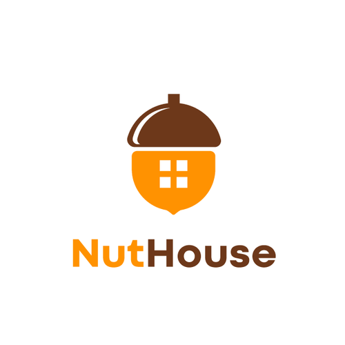 Combination logo with the title 'NutHouse'