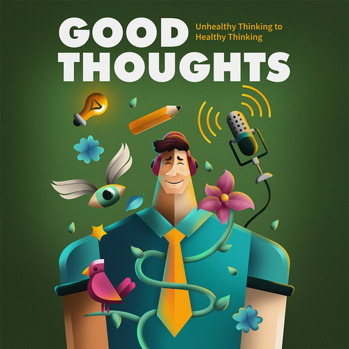 Gradient artwork with the title 'Good Thoughts'