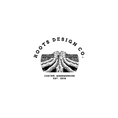 Black and white design with the title 'Old Vintage Logo Concept'