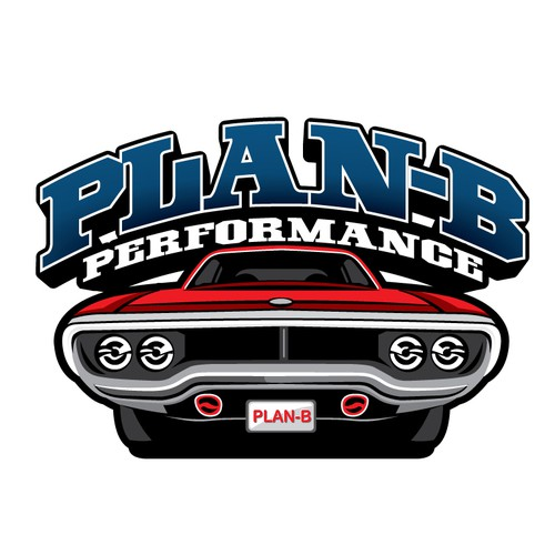 Hot rod logo with the title 'Winner | Plan B Performance'