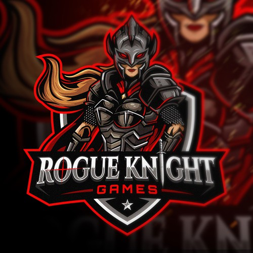 Female design with the title 'Rogue Knight Games (Female Version)'