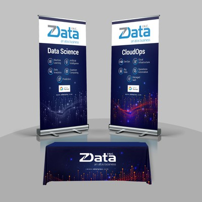 Design technology conference Marketing displays for ZData