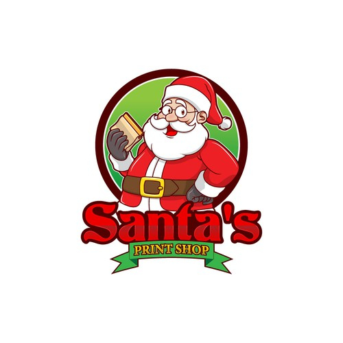 Christmas logo with the title 'Logo for screen printing company'