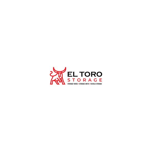 Bull logo with the title 'Logo Design for El Toro Storage'