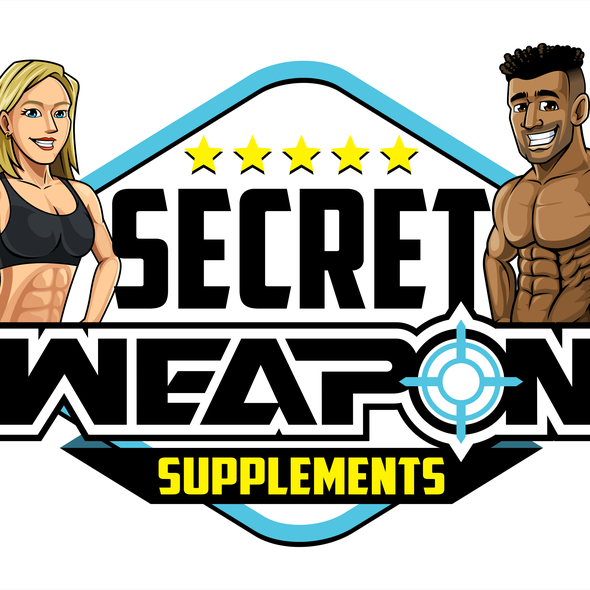 """People brand with the title '""""Secret Weapon Supplements"""" Logo'"""