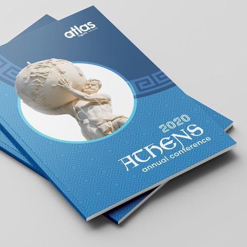 Atlas design with the title '[Winner] Atlas Brochure '