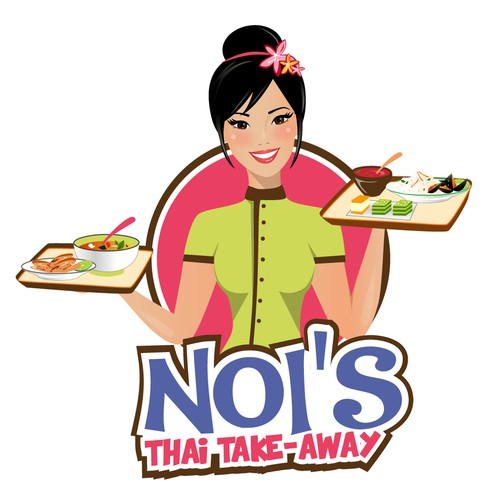 Asian logo with the title 'Playful logo for Thai food truck'