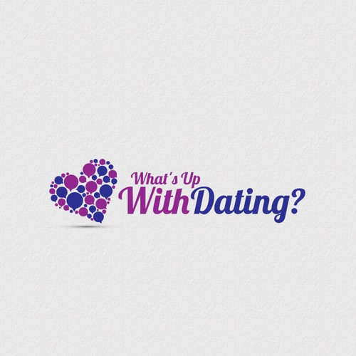 Speech therapy logo with the title 'LOGO for What's Up With Dating?'