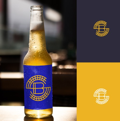 Wheat design with the title 'SB + Beer + Wheat - Logo Design'