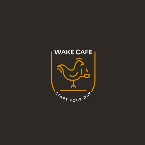 Cup logo with the title 'Cafe Logo'