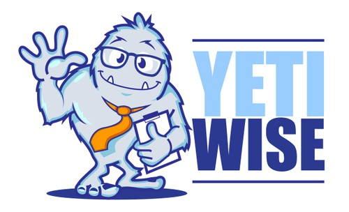Tie design with the title 'Yeti Wise Logo'