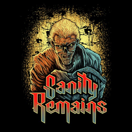 Eye-catching artwork with the title 'Band icon concepts for Sanity Remains band'