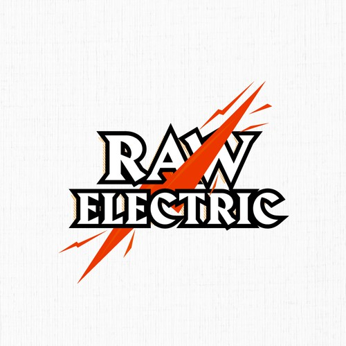 Service logo with the title 'Raw Electric Logo'